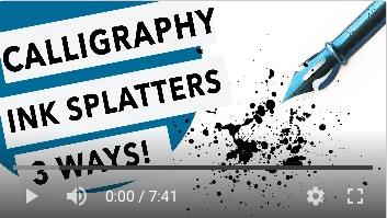 Calligraphy Ink Splatters Three Ways