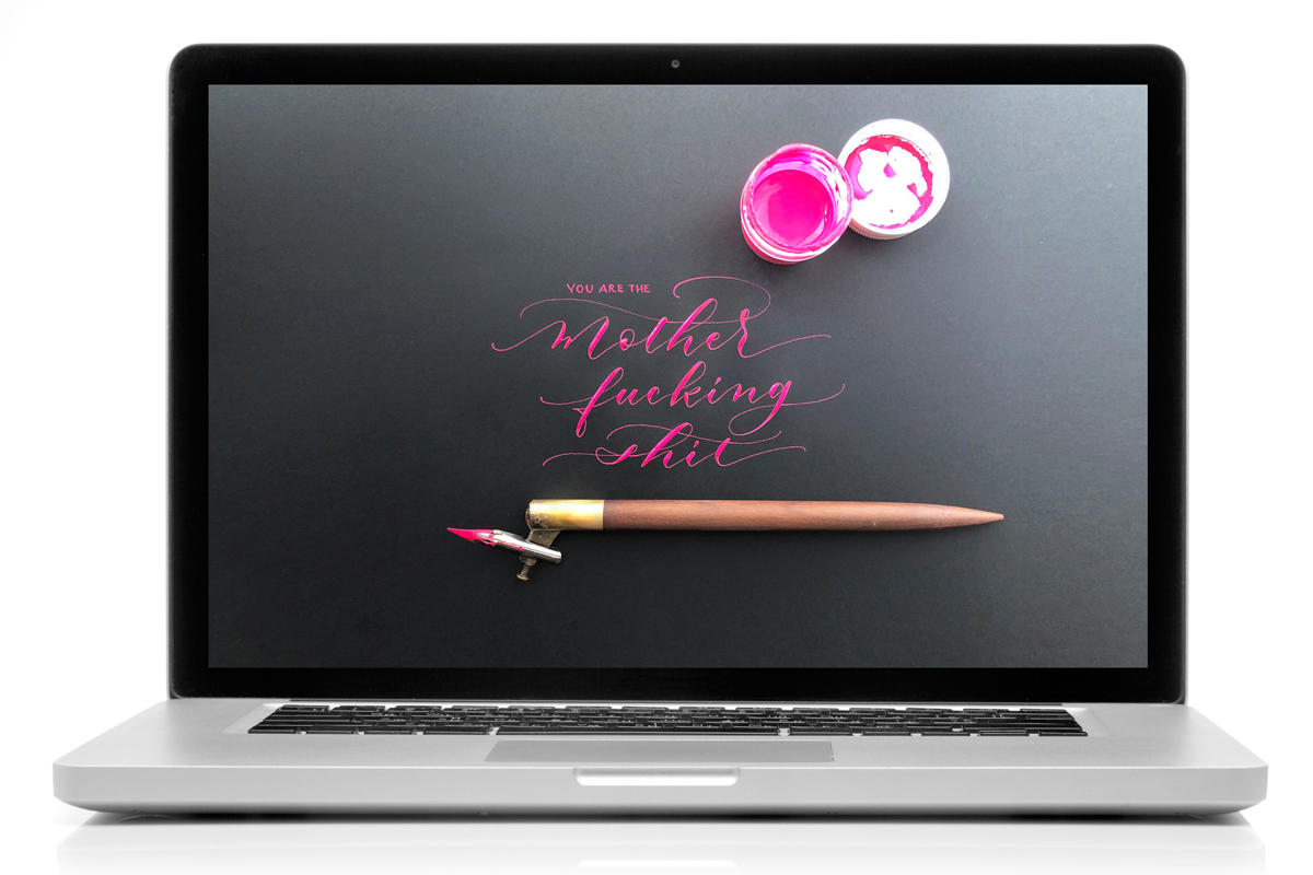 Sweary Calligraphy Wallpaper