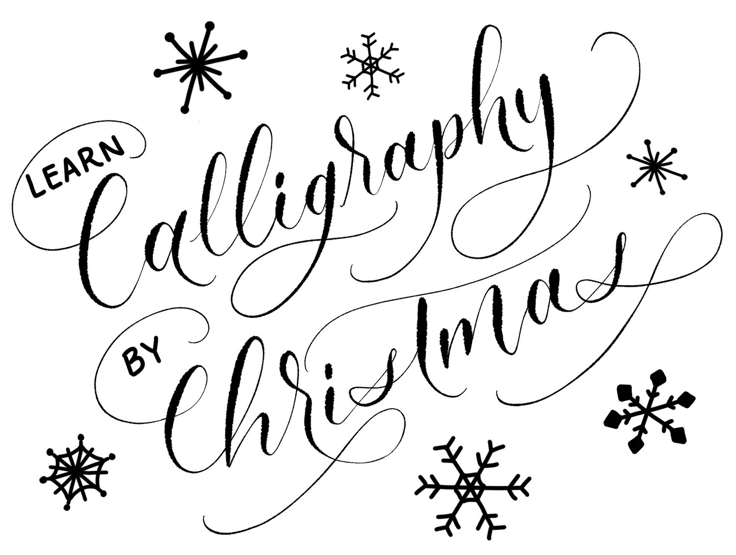 Christmas Calligraphy.Calligraphy By Christmas Crooked Calligraphy