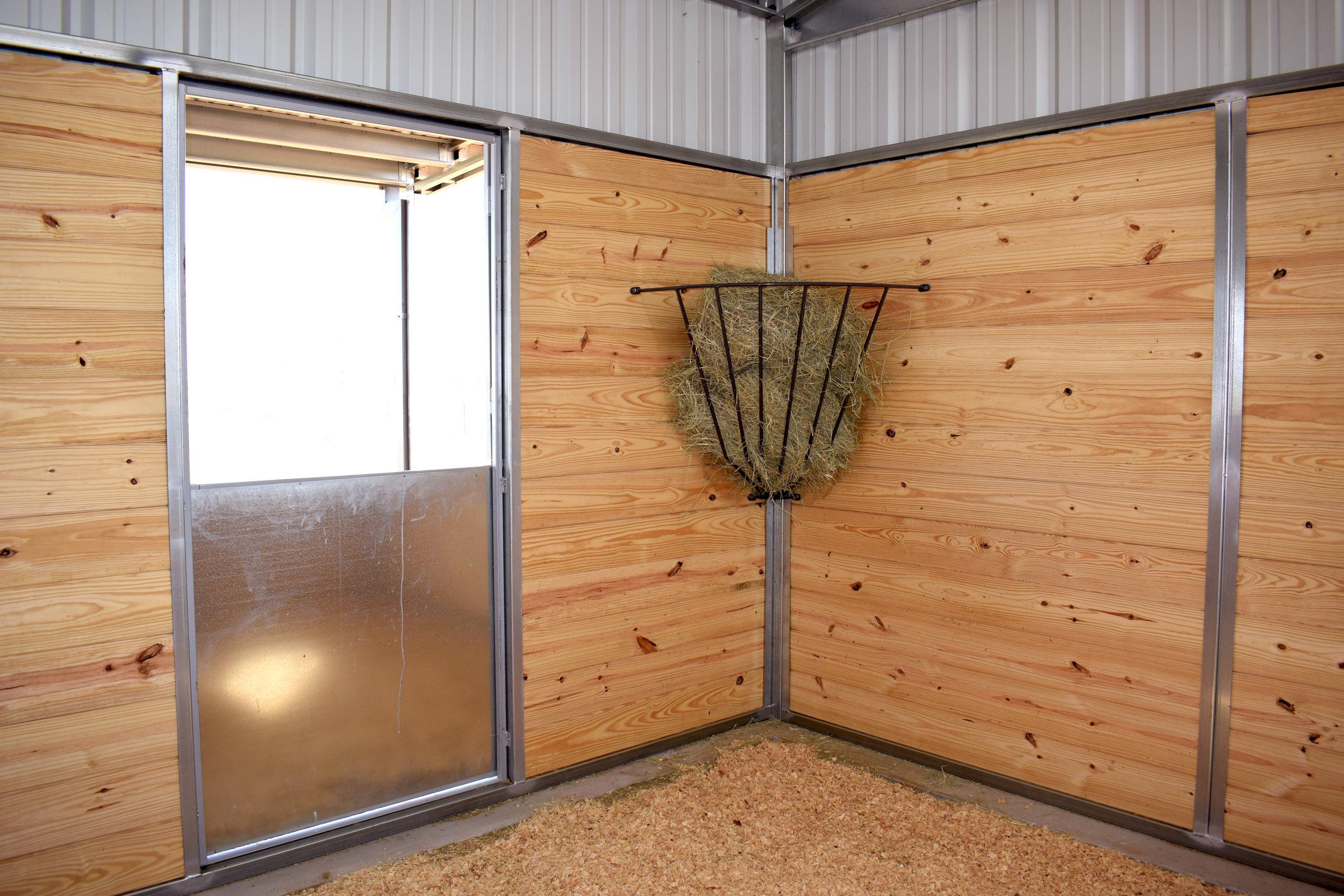 Stall Dutch Door, Corner Hay Rack