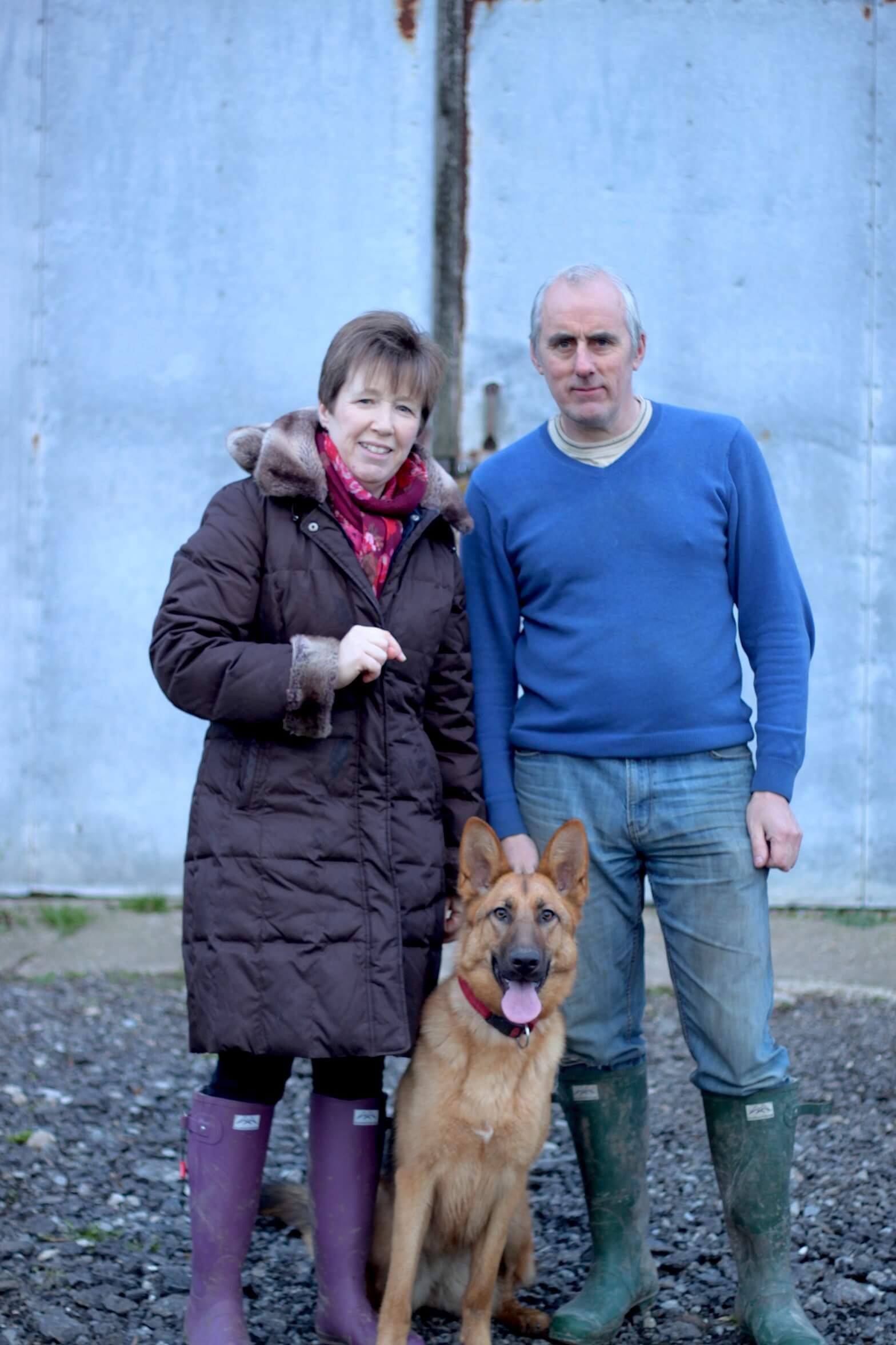 Me, my wife Deborah and dog Nellie