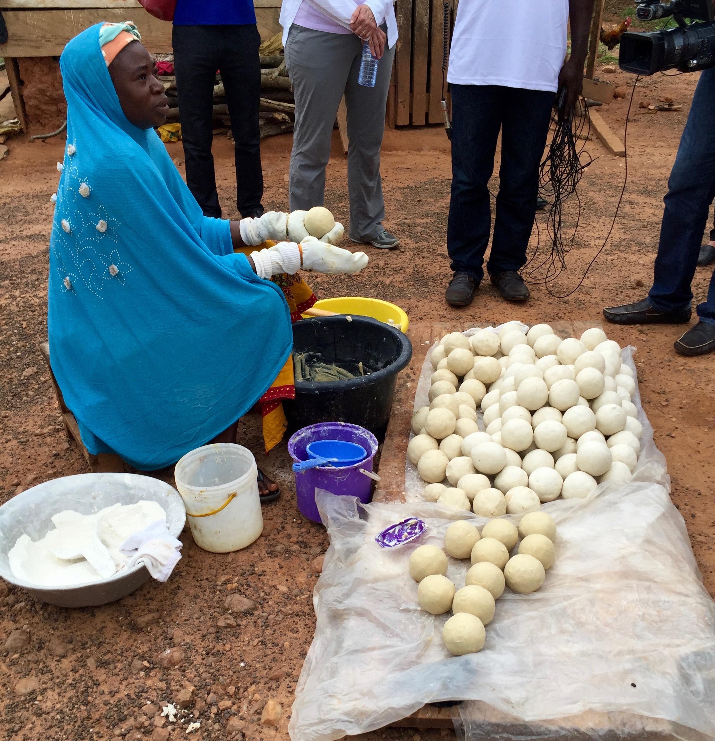 Mamata making soap