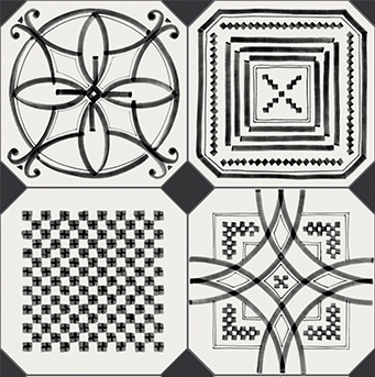 Boheme Black & White Octagon