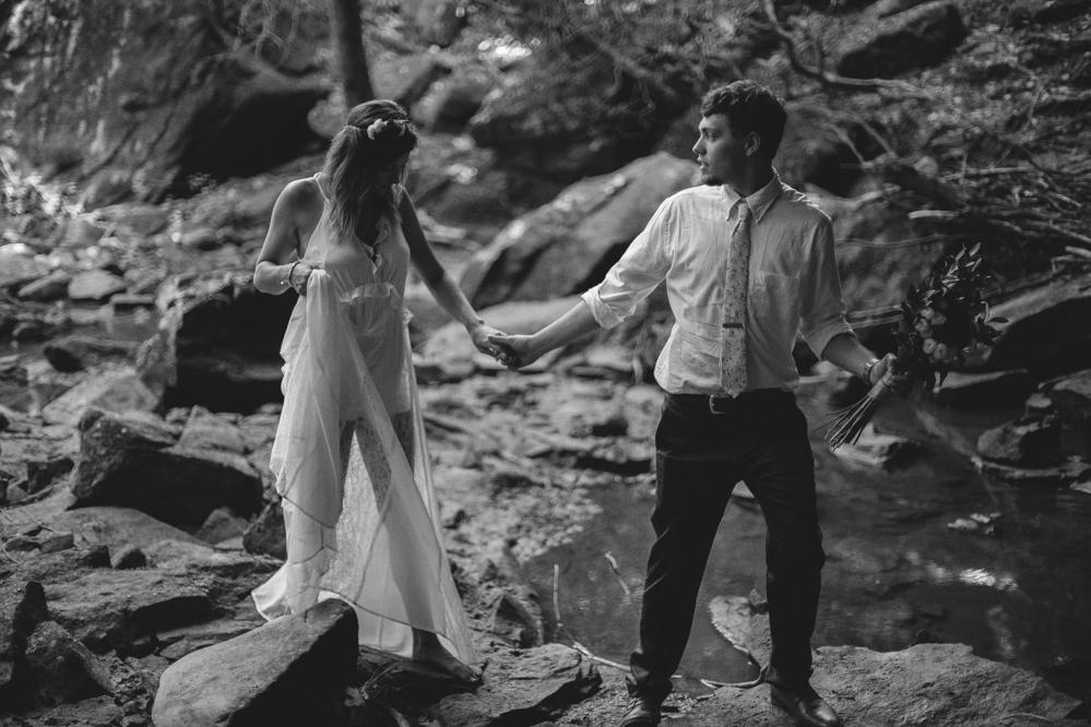 Emily + Jacob Photography | Memphis Wedding Photographer | Elopement Photographer - kentucky-wedding-photographer-joshandkristina-elopement-waterfall-fineartphotography