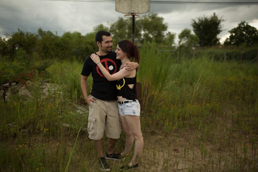 The Hatches | Memphis Tennessee Wedding Photographers | Skylar and Brian | memphis-tennessee-wedding-photographers-abandoned-auto-shop-romantic-lifestyle-unique-modern-posing-couples-engagement-inspiration