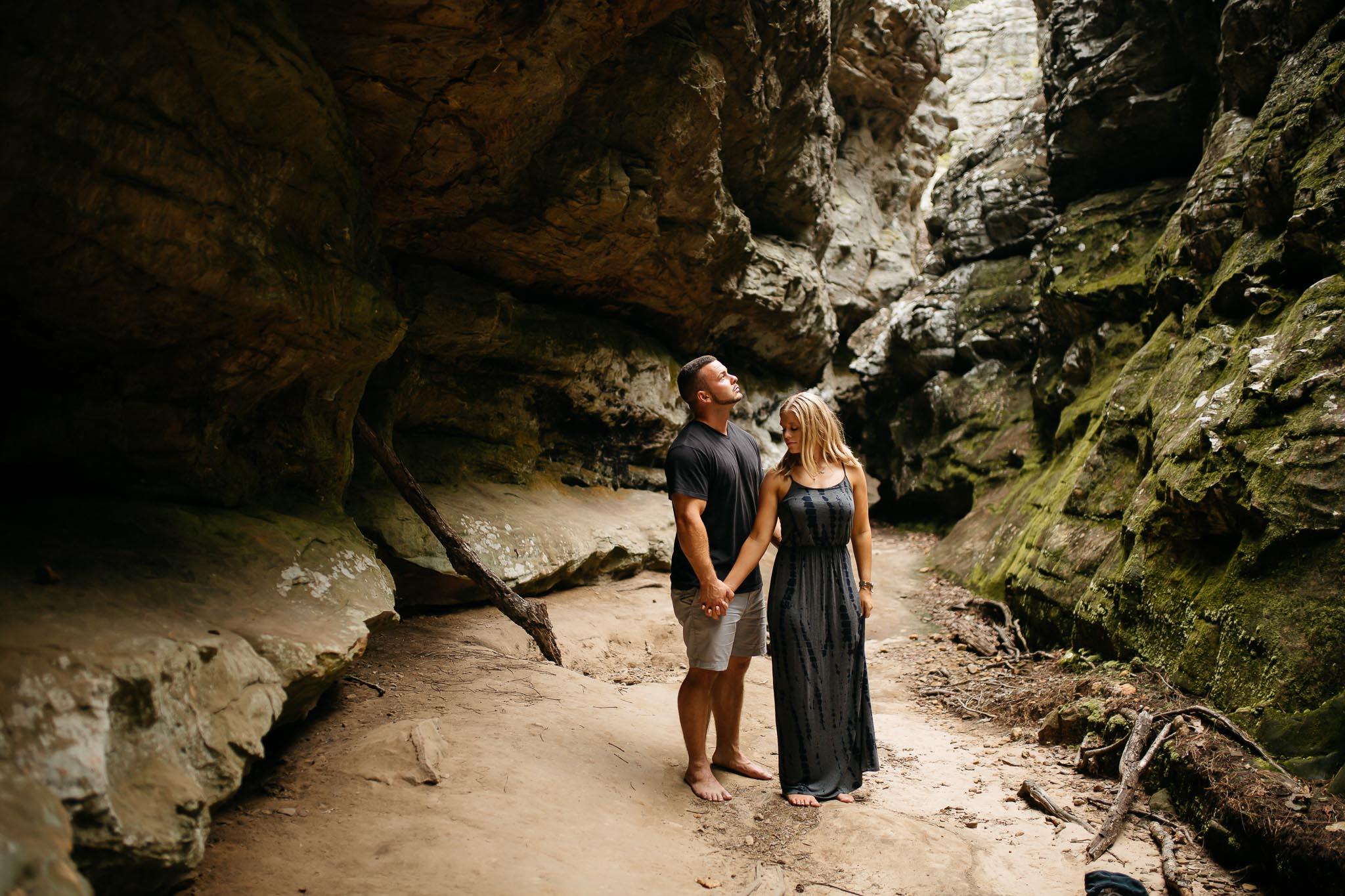 The Hatches | Petit Jean State Park | Waterfall Engagement Session | Destination Wedding Photographers | petit-jean-state-park-engagement-session-moody-romantic-unique-adventurous-wedding-photographer
