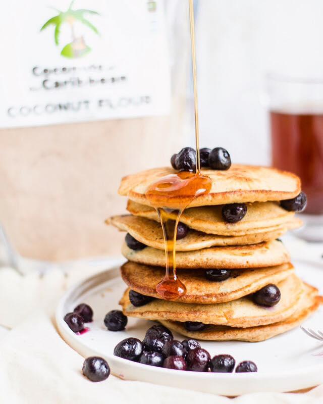 Coconut Blue Berry Pancakes