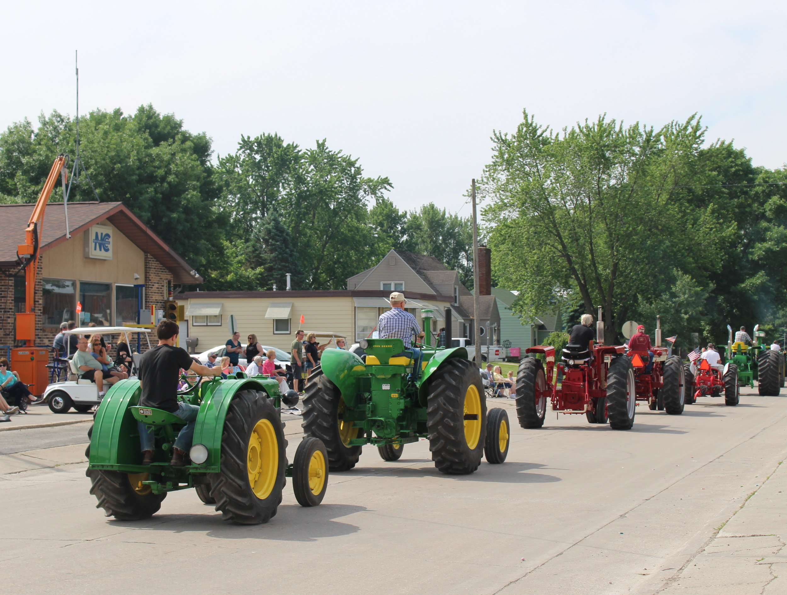 Tractors in the Festival Parade