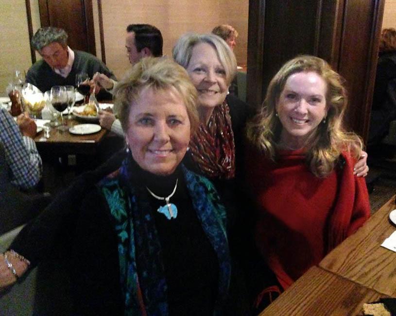 l-r, Cissy LeGear, Pat Rich Plummer, F.C. Pearce, at the Algonquin Golf Club, St. Louis.