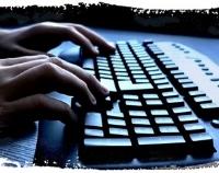 Typing away...