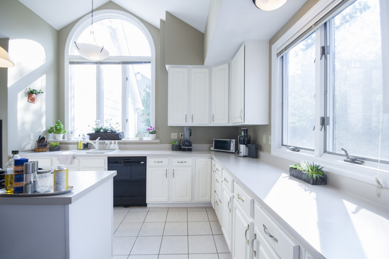 Appropriate natural light balanced with creative fixtures really gives the kitchen a comfortable and healthy feel.