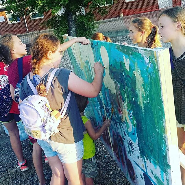 Paint with us! Bands on Bordeaux Paint Space. #Art #StreetArt #community #Mural #artalley #ChadronMade #PaintTheTown #PublicArt #Mural