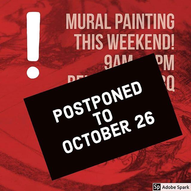 Painting Postponed due to temperature. #Art #Mural #PublicArt #ChadronMade #community #StreetArt #PaintTheTown #nebraskaweather