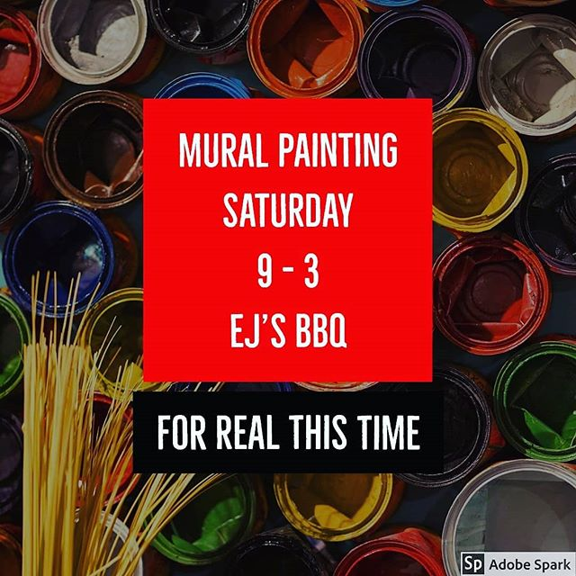 We are painting this weekend! Join us behind EJ'S BBQ on Saturday 9-3. Volunteer artists of all ages are encouraged! #ChadronMade #PaintTheTown #StreetArt #community #Mural #artalley