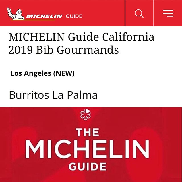 ¡Enhorabuena! The thrill to see @burritoslapalma included as #bibgourmand of @michelinguide is matched only by our gratitude and appreciation to all who share this excitement with us. #ourguestsarethebest  Thank you to @michelin we are beyond ecstatic and proud to be part of this group of amazing restaurants and chefs!