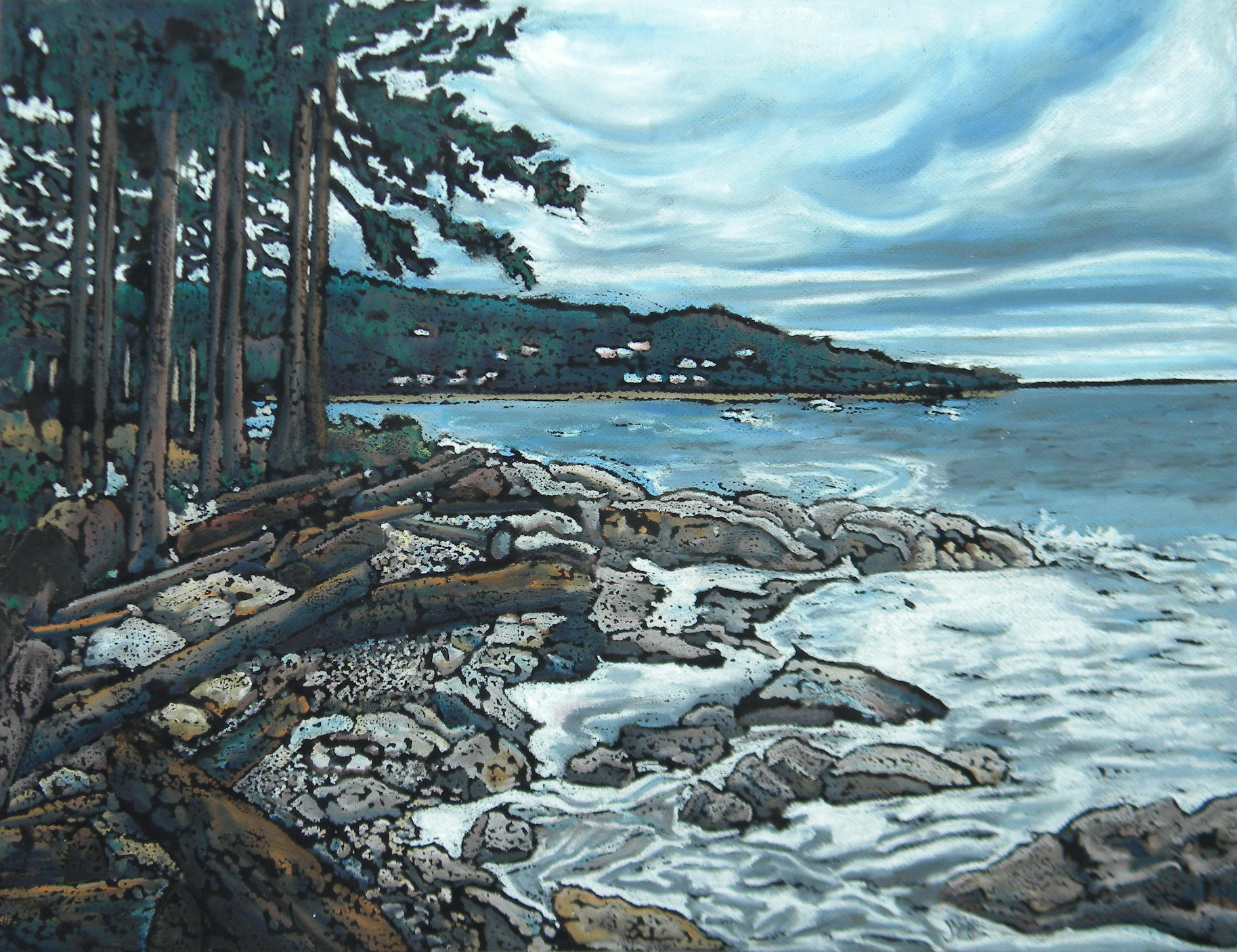 Sechelt in a Storm Horizontal
