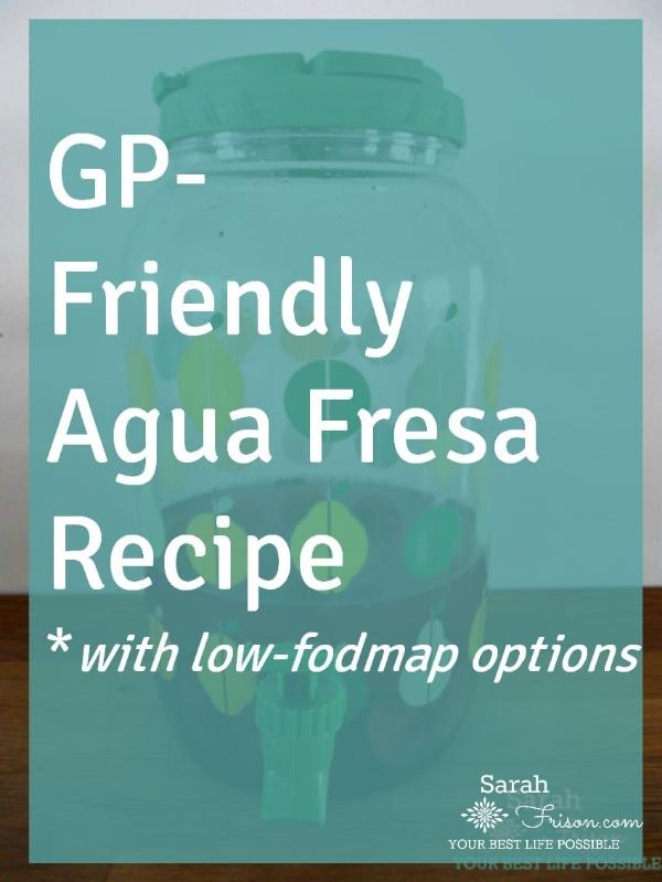 gp-friendly agua fresca recipe by @sarahfrisonhc