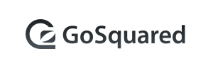 The gosquared logo in greyscale, their name next to an image of a circle and a rectangle