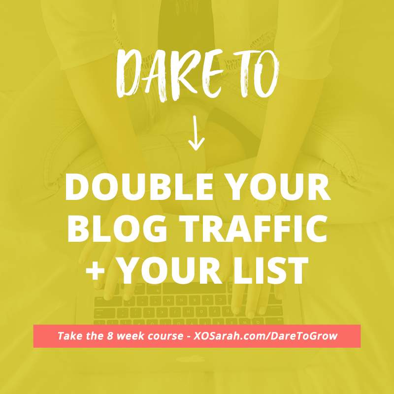 Dare to grow! This is Sarah Morgan's course on blog and newsletter promotion