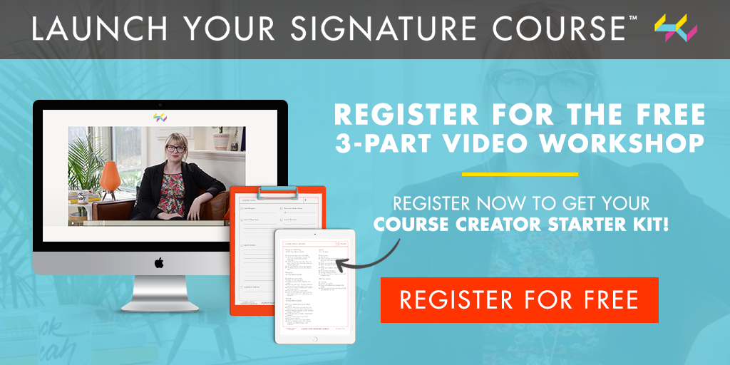 Promotional image for Launch your Signature Course by Femtrepreneur.