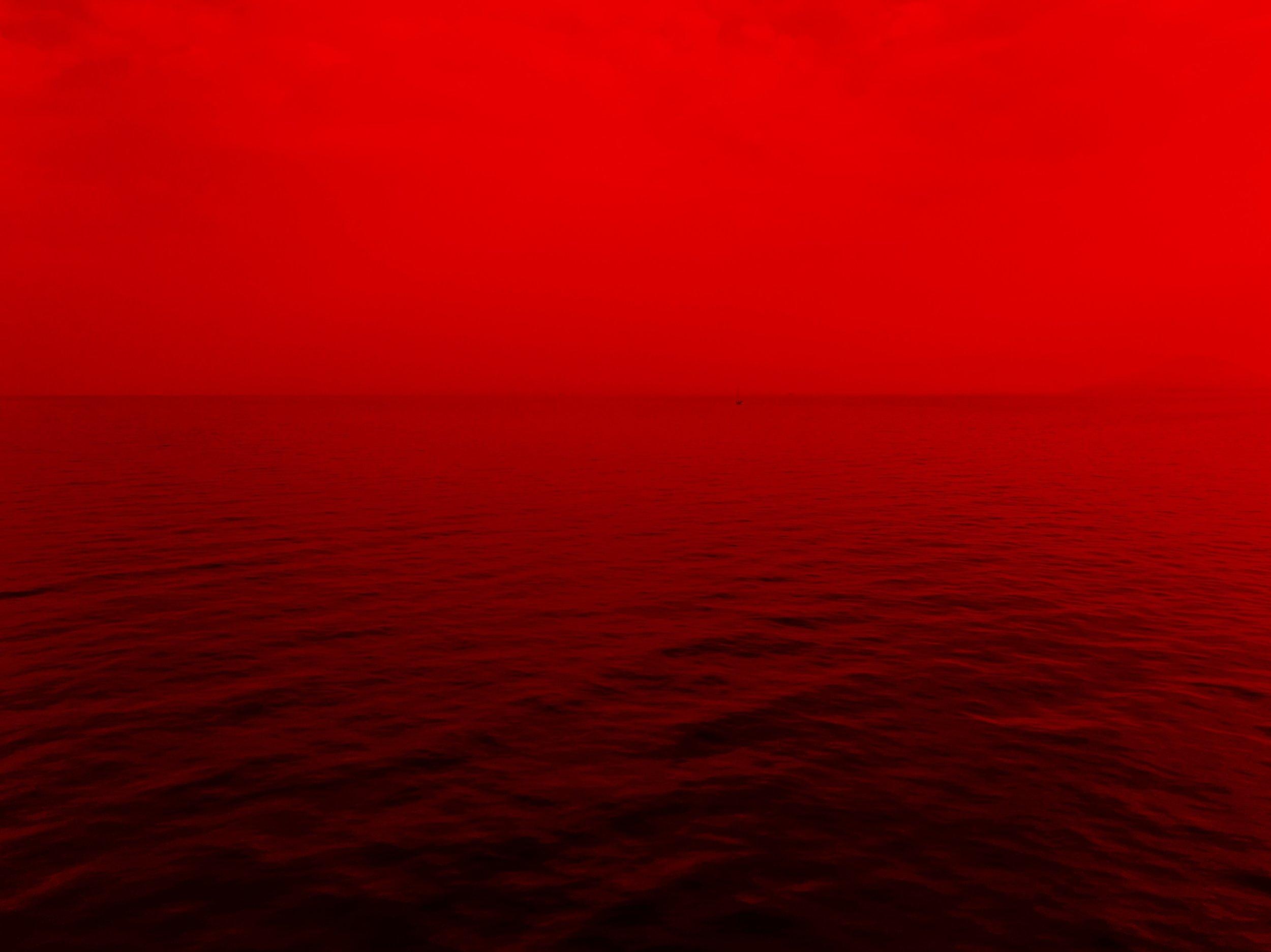red-ocean-water