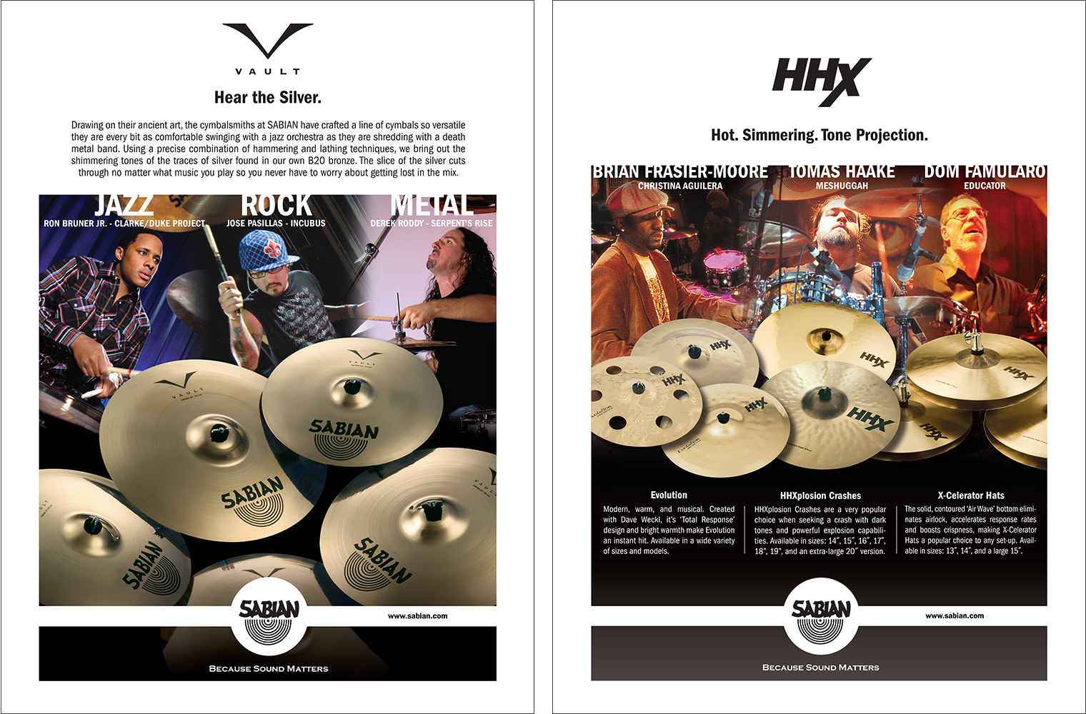 VAULT & HHX CYMBALS (TRADE ADVERTISING)