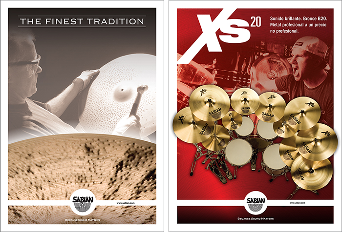THE FINEST TRADITION & XS20 CYMBALS (TRADE ADVERTISING)