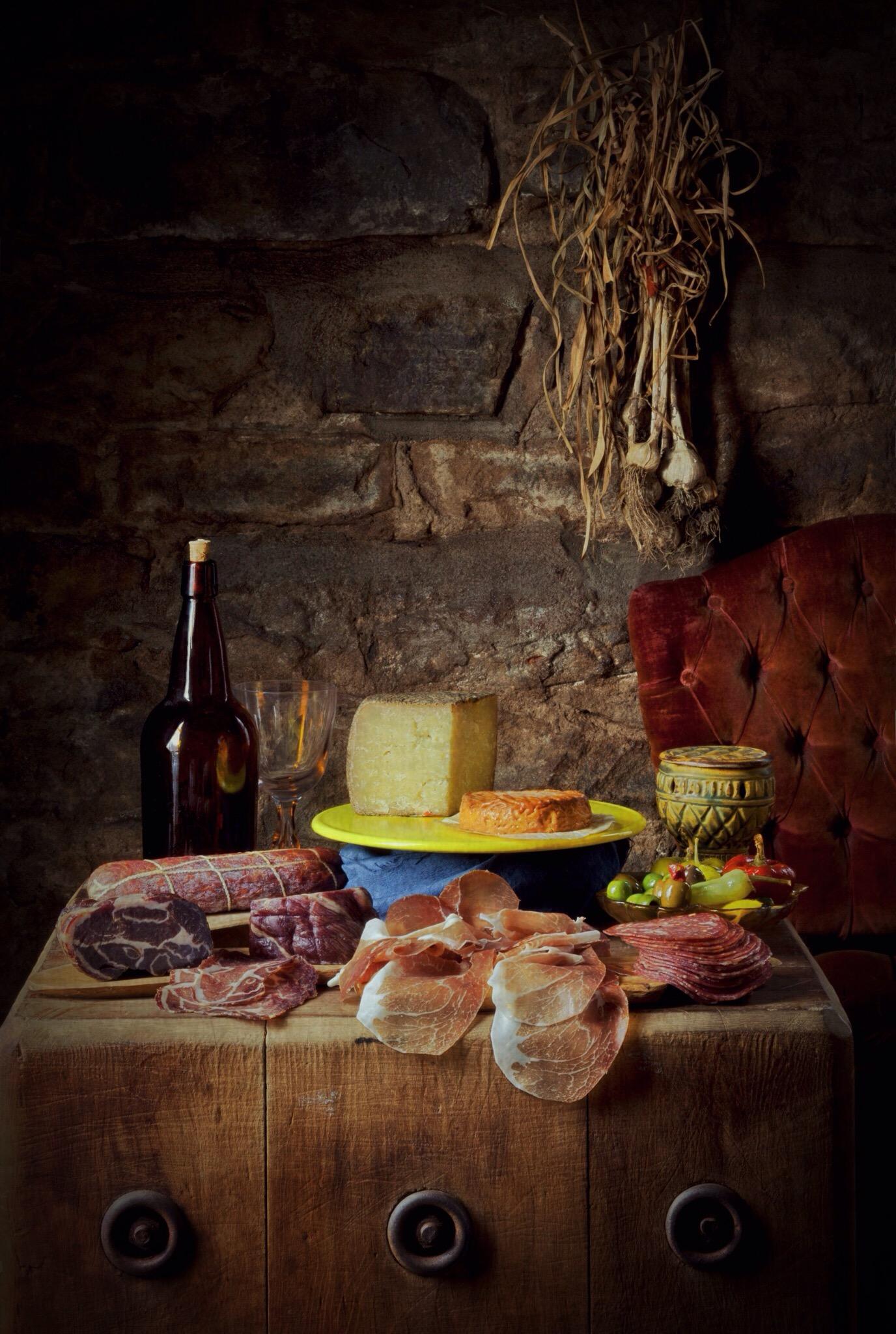 Parma Sausage Company's prosciutto di Parma, soppressata, coppa secca, salami rustico and salami di Genoa, and other savory treats for a snack that connects you to art history.