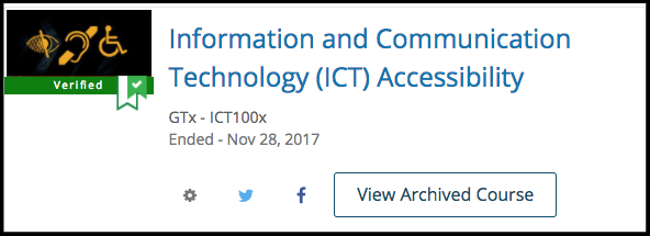GTx - ICT1000 on Edx.com