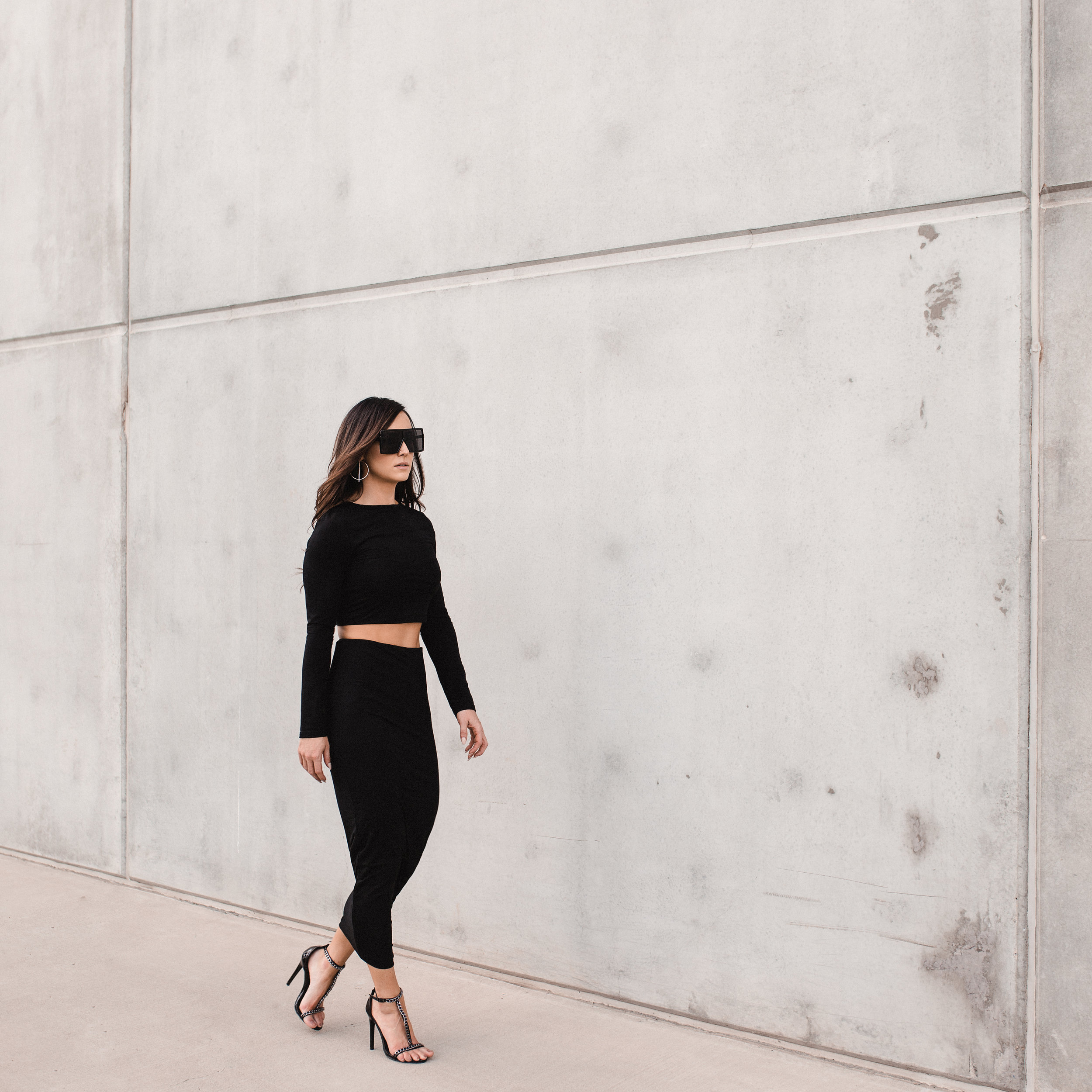 the crop top & ruched skirt