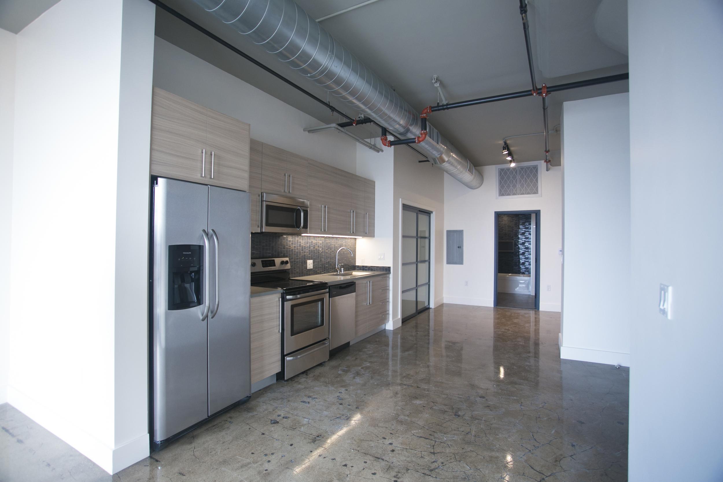 Kitchen at Maxfield Lofts
