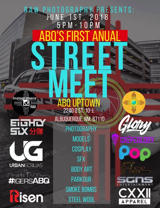 Join Us for the First Albuquerque StreetMeet! - Help us create this community with our first meet June 1, 2018. We'll be gathering in ABQ Uptown and exploring the neighborhood as we network and create with each other