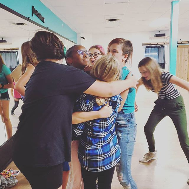 Feeling the love after our first Musical Theatre rehearsal. It's going to be an incredible season.  #brantford #theatre #love #hugs #crazy #kids #smallstudiobigheart