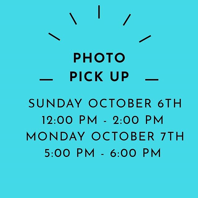 Last seasons dance photos will be available for pick up this Sunday October 6th 12:00 pm - 2:00 pm & October 7th 5:00 pm - 6:00 pm.