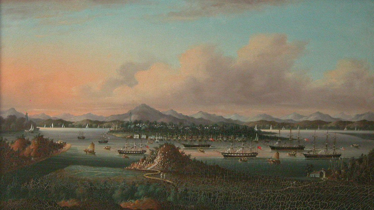 Whampoa Anchorage, China, where foreign vessels were required to remain in order to trade with the Chinese.