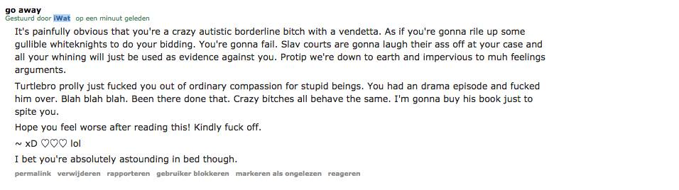 Abusive Reddit user / Exurb1a fan sent this personal message.