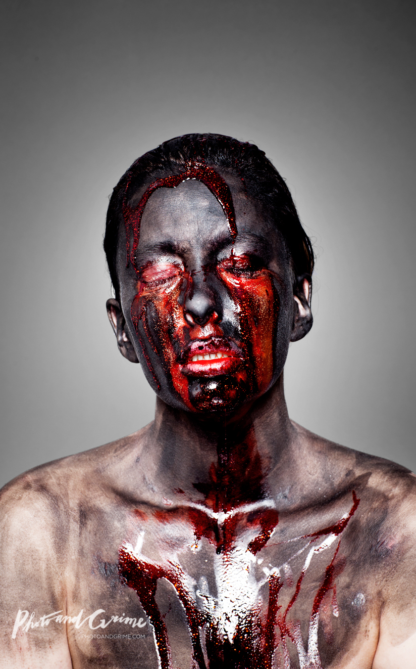 Bleeding Soul (2011); self-portrait.