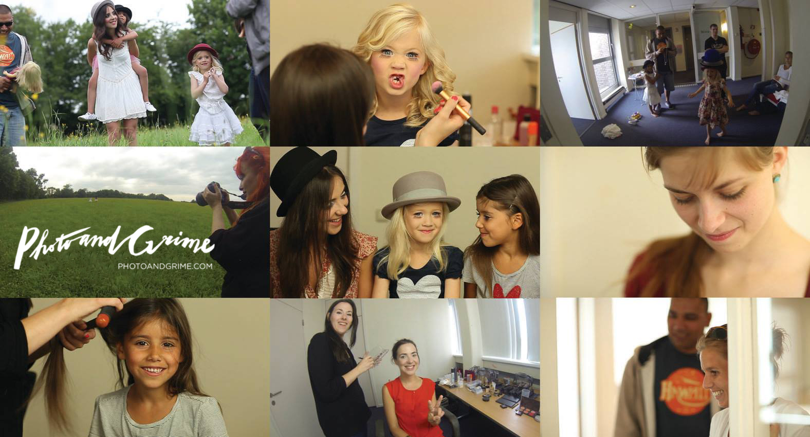 Video stills from the behind-the-scenes photoshoot video, for Sandy's CD Promise not to cry.