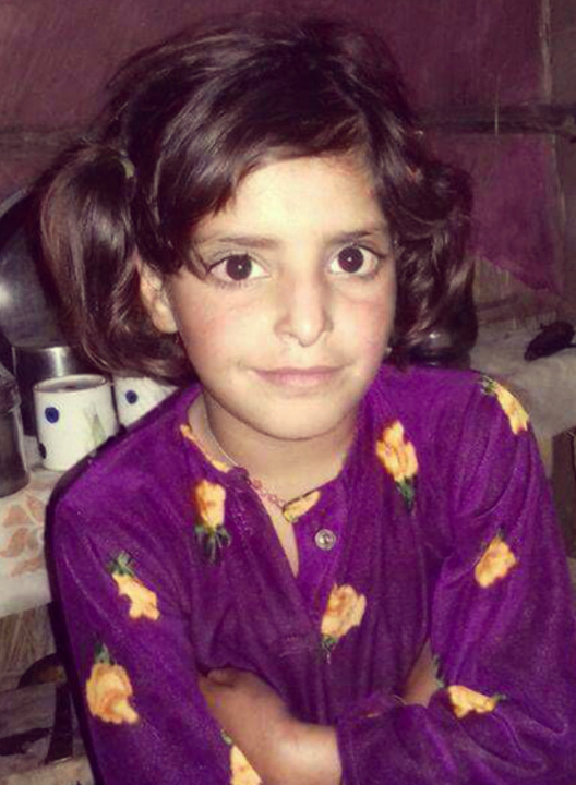 Asifa Bano was found raped and murdered, while wearing the same dress she wore on this picture.