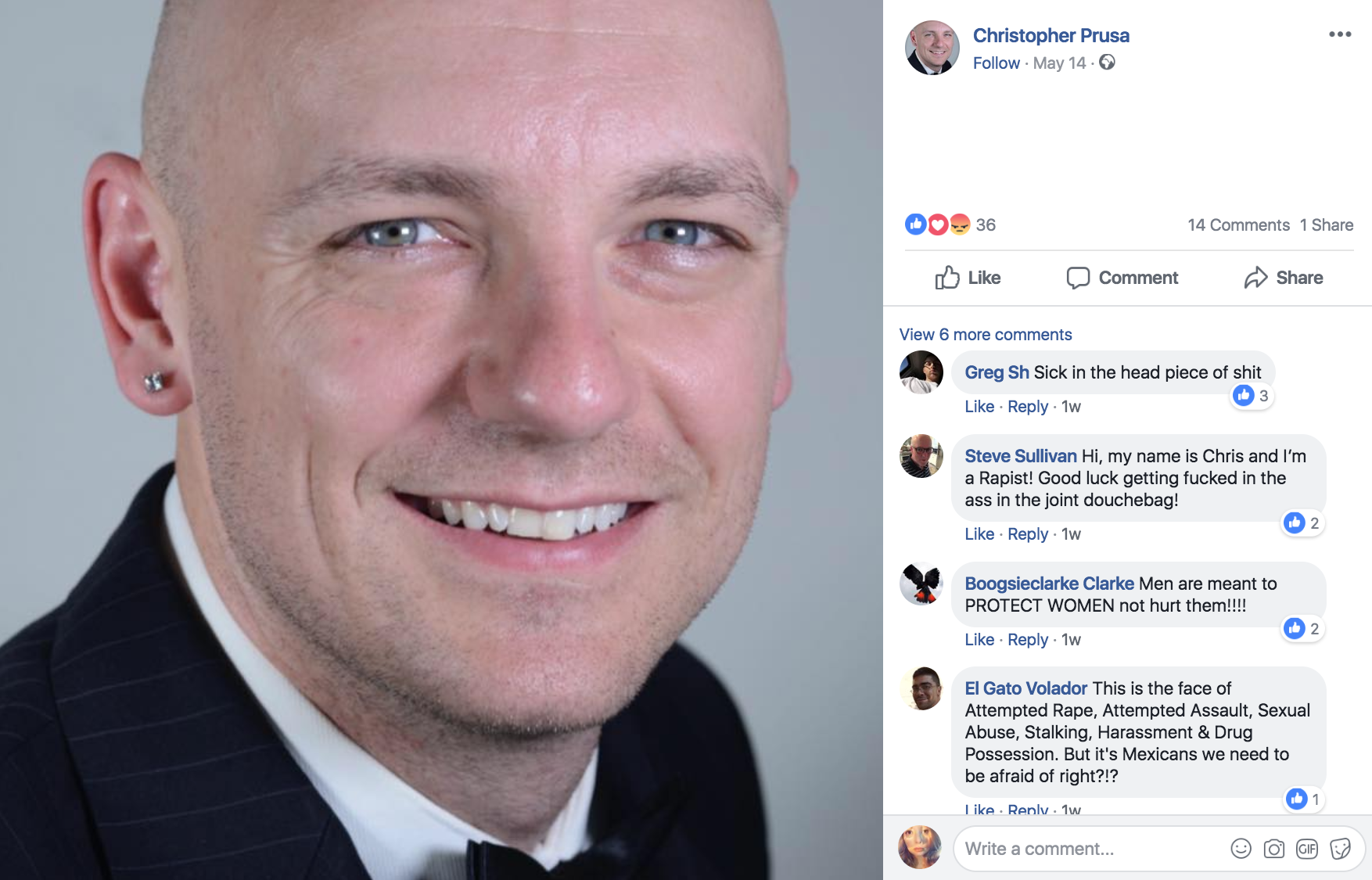 Prusa's Facebook profile picture on August 2018