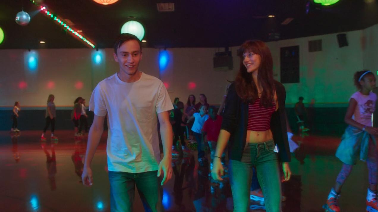 Keil Gilchrist and Aubrey Peeples play Henry and Sam, a young couple in love.