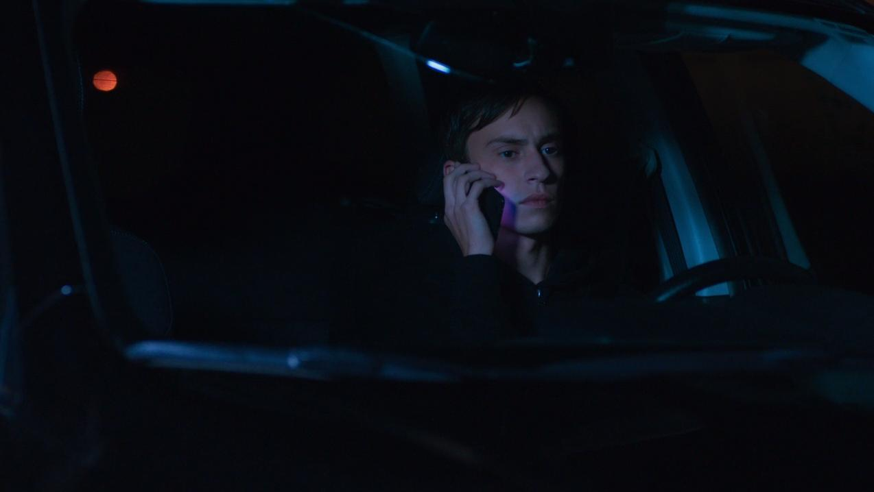 Henry stalking Sam with his phone.