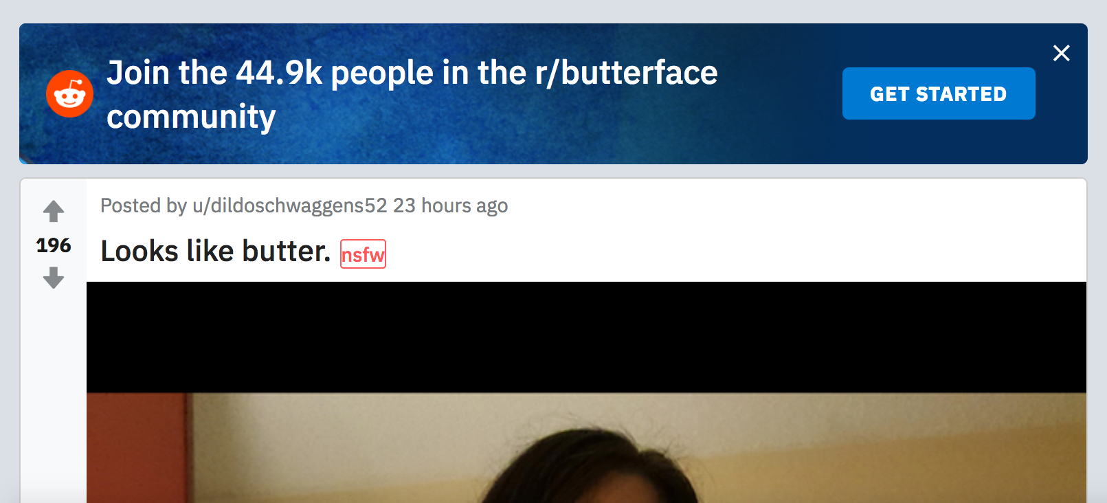 Call for action from Reddit: Join the r/butterface community!