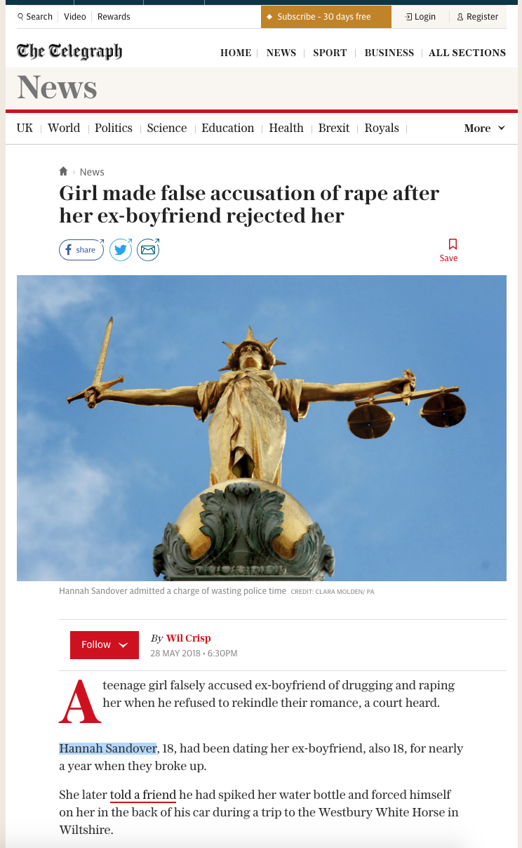 This article shows up in Google when searching for 'Exurb1a+rape'.