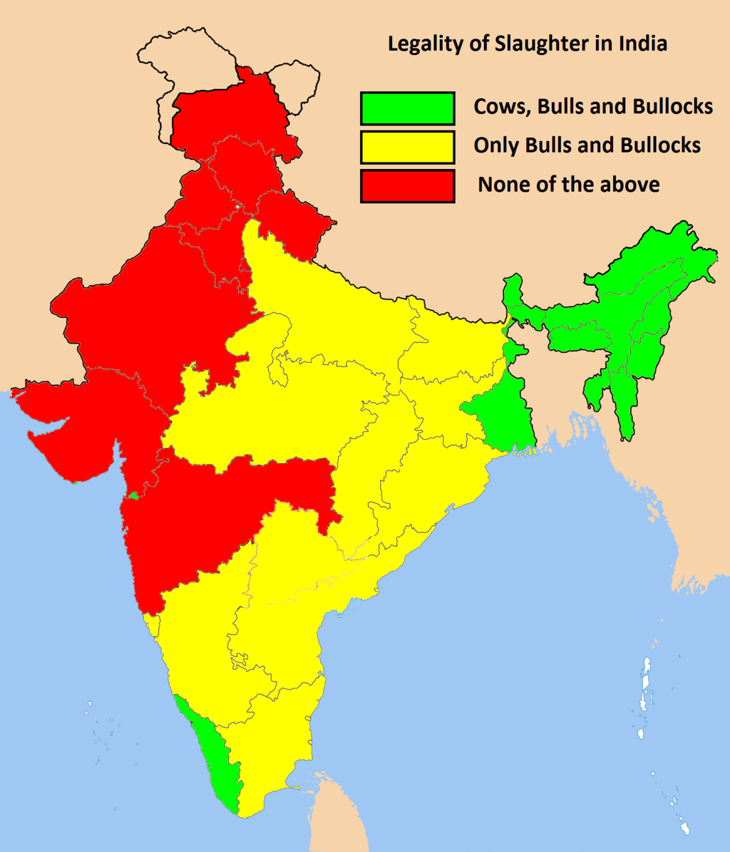 Legality of Slaughter in India. Photo:  Wiki, Barthateslisa  ( CC BY-SA 3.0 )