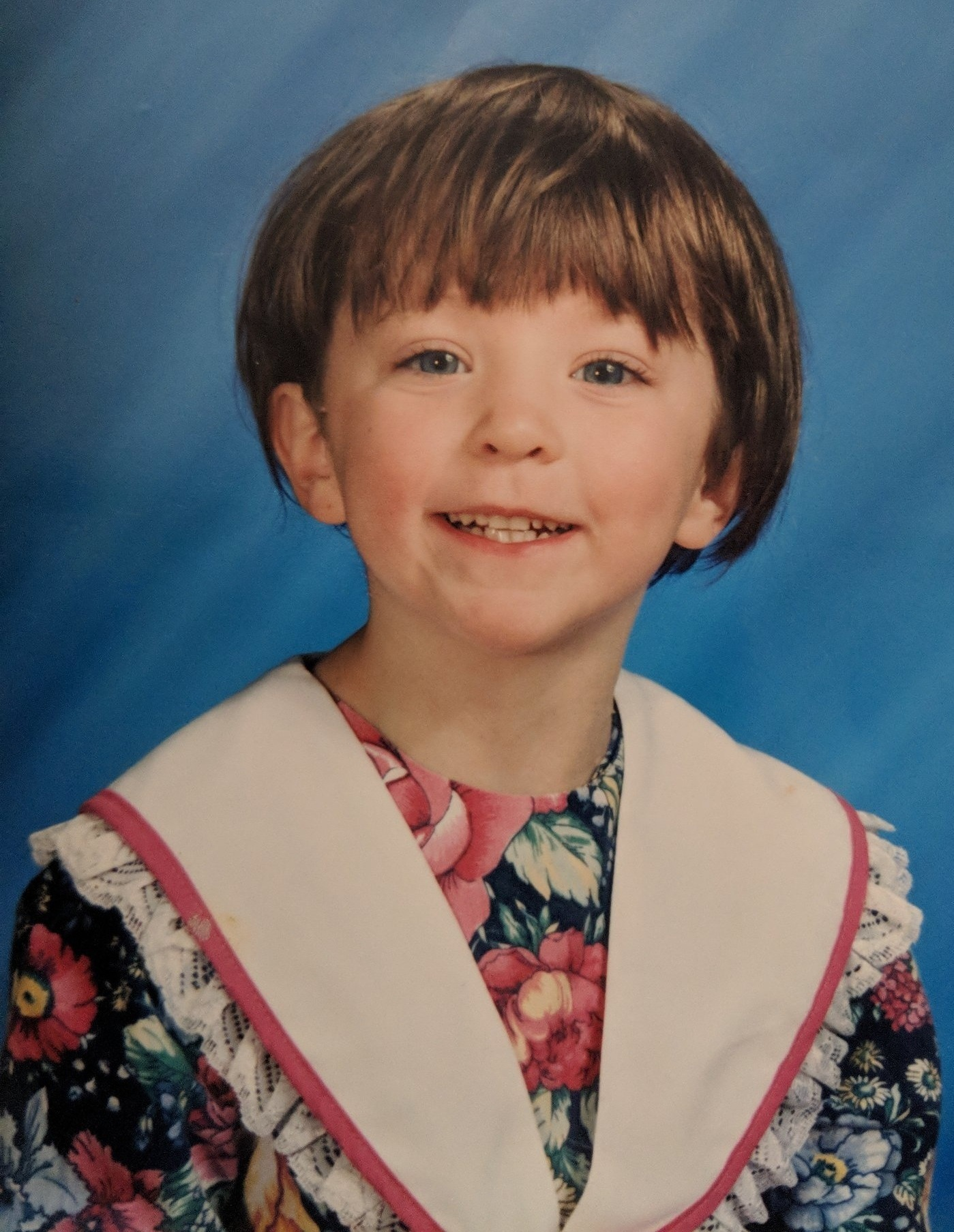 A photo of Emily while she was in kindergarten, pre-abuse. Photo: Emily