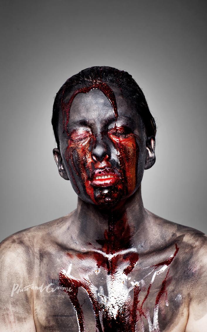 Bleeding Soul (2011); self-portrait.