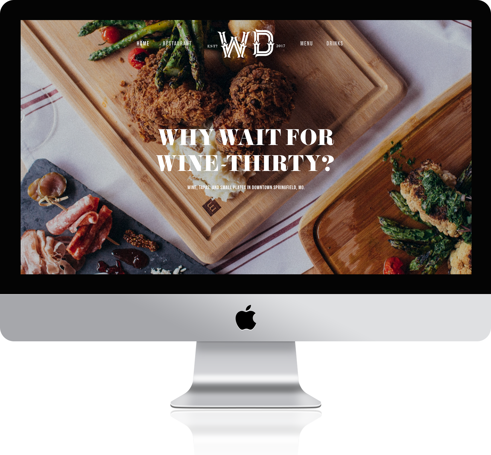 A DIGITAL POUR - We created a fully-responsive website with the ability to easily and consistently update wine, cocktail and food menus. Using beautiful food and location photography, the online home for the Wine Dive pulls you in and makes you thirsty for that happy hour cocktail.