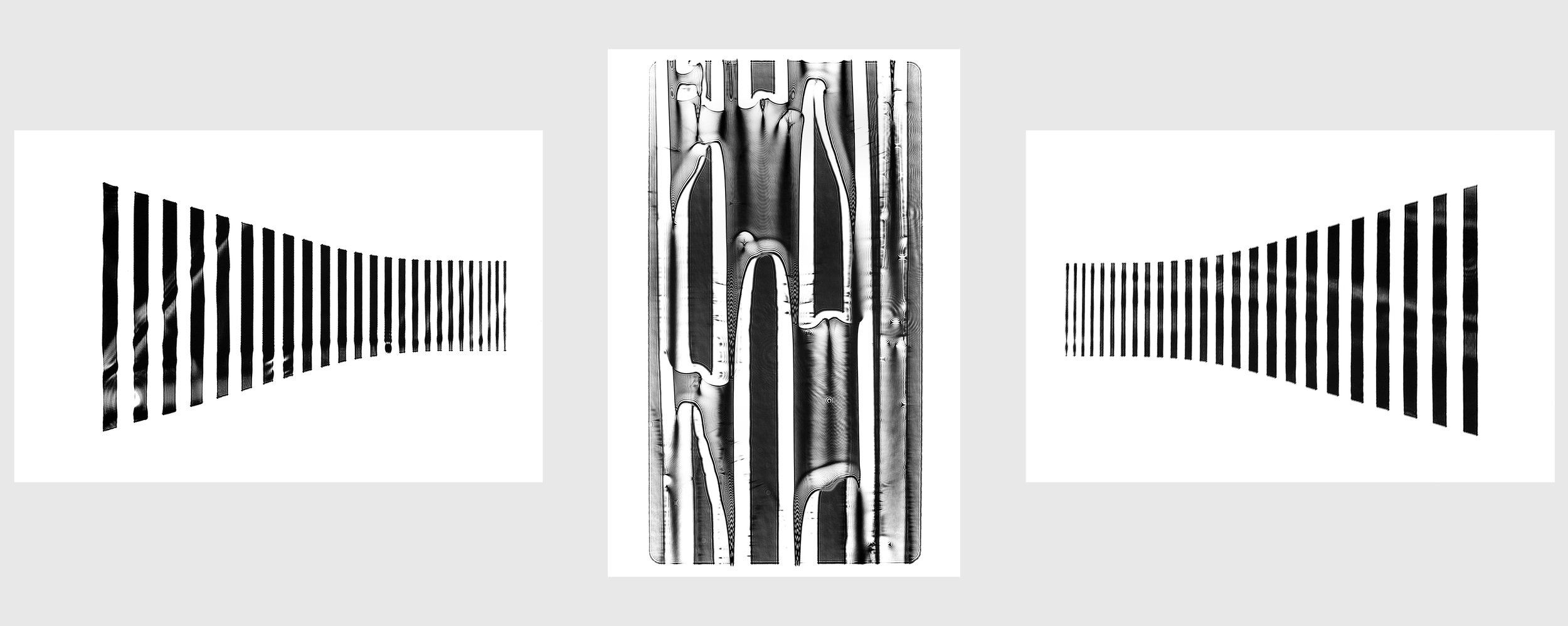 No Light 2019 at Camera (Centrul de Interes) Cluj-Napoca, Romania. Triptych #1 - 120x80 / 80x120 / 120x80. Title: CAPTURE THE UNCONTROLLABLE