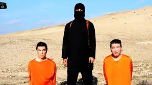This is a picture of the two guys who got the head cut off, in others words behead. This picture is from the desert.